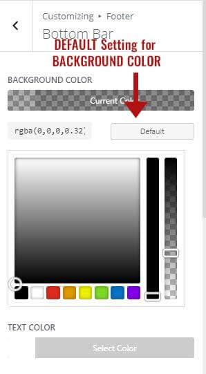 Default setting for bottom bar
